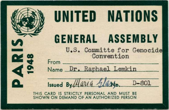 """Dr. Raphael Lemkin coined the term """"genocide"""""""