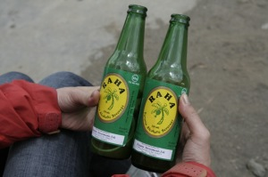 Bottle of Banana beer, comes in many types of containers.