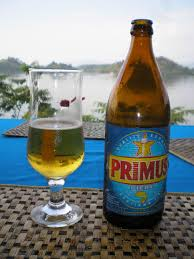 Bottle of Primus Belgian Beer.